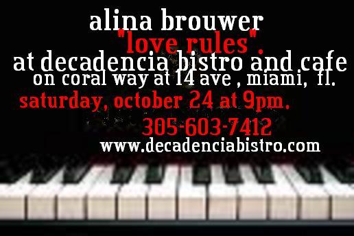 Alina Brouwer @ Decadencia Bistro
