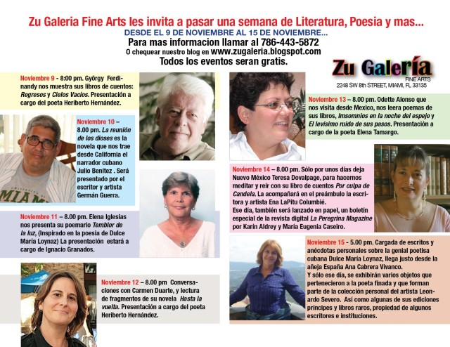 Calendario de Zu Galeria